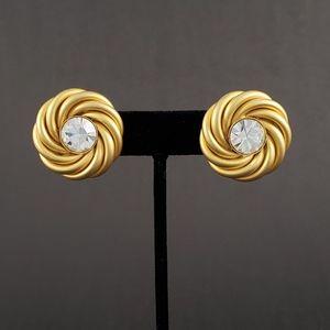 EXQUISITE TRUE VINTAGE Golden Swirl Earrings